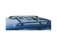 Black Roof bar with 4pcs cross bar (lolo,dark green,white) for TOYOTA LAND CRUISER J100 for year 1998-2007